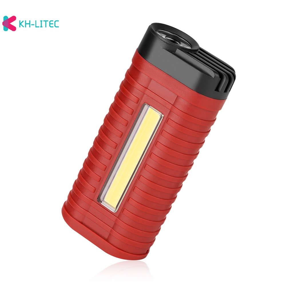 H3bc06cab688447a999ab72ee9e618145C - Mini 2 Modes led work light Portable Light by 3*AAA Battery COB LED Flashlight Torch for Camping Hunting Outdoor