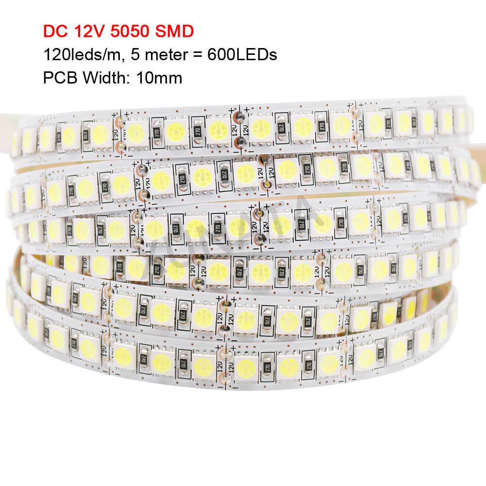 5M 12V 24V LED Lampu Strip 5054 5050 2835 5630 4040 Tahan Air Flex Pixel Led Strip Fleksibel pita LED Pita Lampu Dekorasi