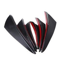 6 sztuk przedni zderzak samochodowy część rozdzielająca nakładki zderzaka płetwy spoiler nadwozia remont jasnoczarny Premium pcv zewnętrzne akcesoria samochodowe