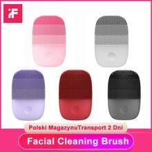 InFace sonic yüz fırça temizleyici elektrikli derin yüz temizleme masaj su geçirmez silikon Ultra sonic cilt Scrubber