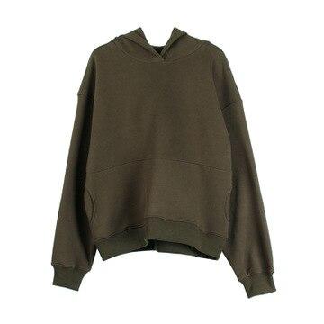 2020 WOMEN  NEW Hooded Sweater Female Loose  New Korean Version Of The Fleece Long-sleeved Shirt