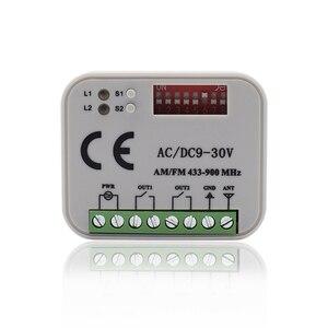 Image 1 - Récepteur de commutateur de télécommande 433MHz 868MHz 300 315 318 390 MHz récepteur ca/cc 9 30V 300 900MHz récepteur de porte de garage