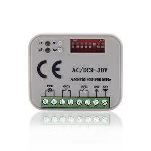 Image 1 - Uzaktan kumanda anahtarı alıcısı 433MHz 868MHz 300 315 318 390 MHz alıcı AC/DC 9 30V 300 900MHz garaj kapısı alıcısı