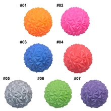 Spiky Massage Ball Fitness Muscle Relax Ball Roller Inflatable Yoga Massage Ball Body Deep Tissue Therapy Massager Yoga Relaxati procircle electric massage ball speed vibrating massage ball foam roller muscle tension pain pressure relieving fitness massage