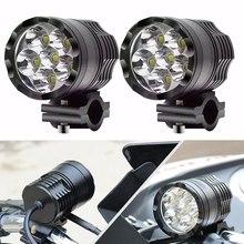 1 זוג 12V 60W אופנוע LED עזר אור הנהיגה ספוט ראש מנורת ערפל אור 6000K אופנוע פנס