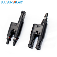 Solar Panel1 pair SOLAR PV T Branch Connectors Splitter Coupler MMF and FFM Wire Branch