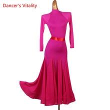 Skirt Dancewear Dress Ballroom Waltz Competition Modern New Adult Child Custom Big-Swing