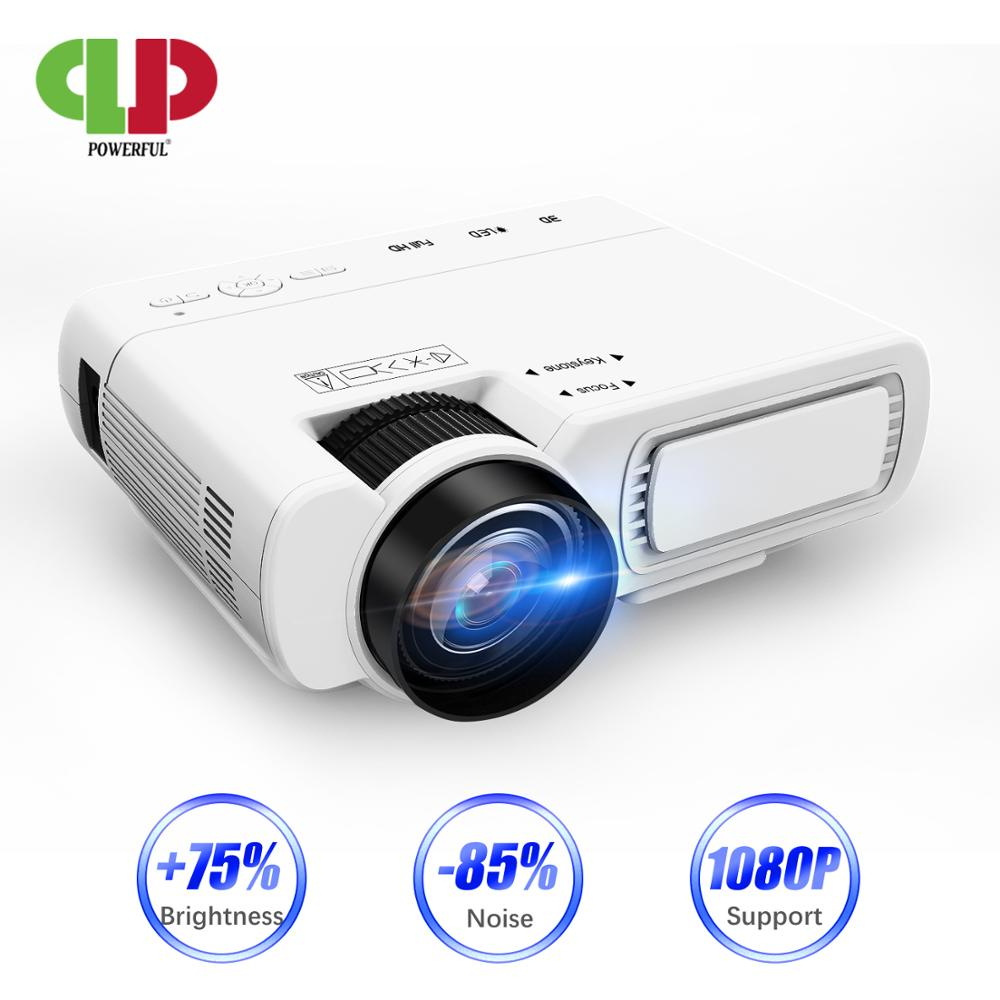 POWERFUL T5 mini Projector 800*600dpi Support 1080P 2600lumens Android 6.0 Optional Wireless Sync Display For Phone Home Cinema   - title=