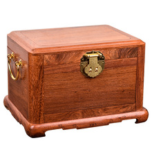 Luxury Wood Multi Layer Jewelry Storage Box Vintage Smart Three Color LED Light Cosmetic Mirror Jewelry Box Storage Rosewood