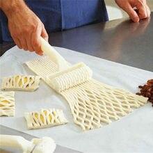Cortador de masa de galleta pastel de Pizza de alta calidad, utensilios para hornear de plástico, rodillo de masa en relieve, cortador para manualidades con diseño de entramado de tamaño pequeño