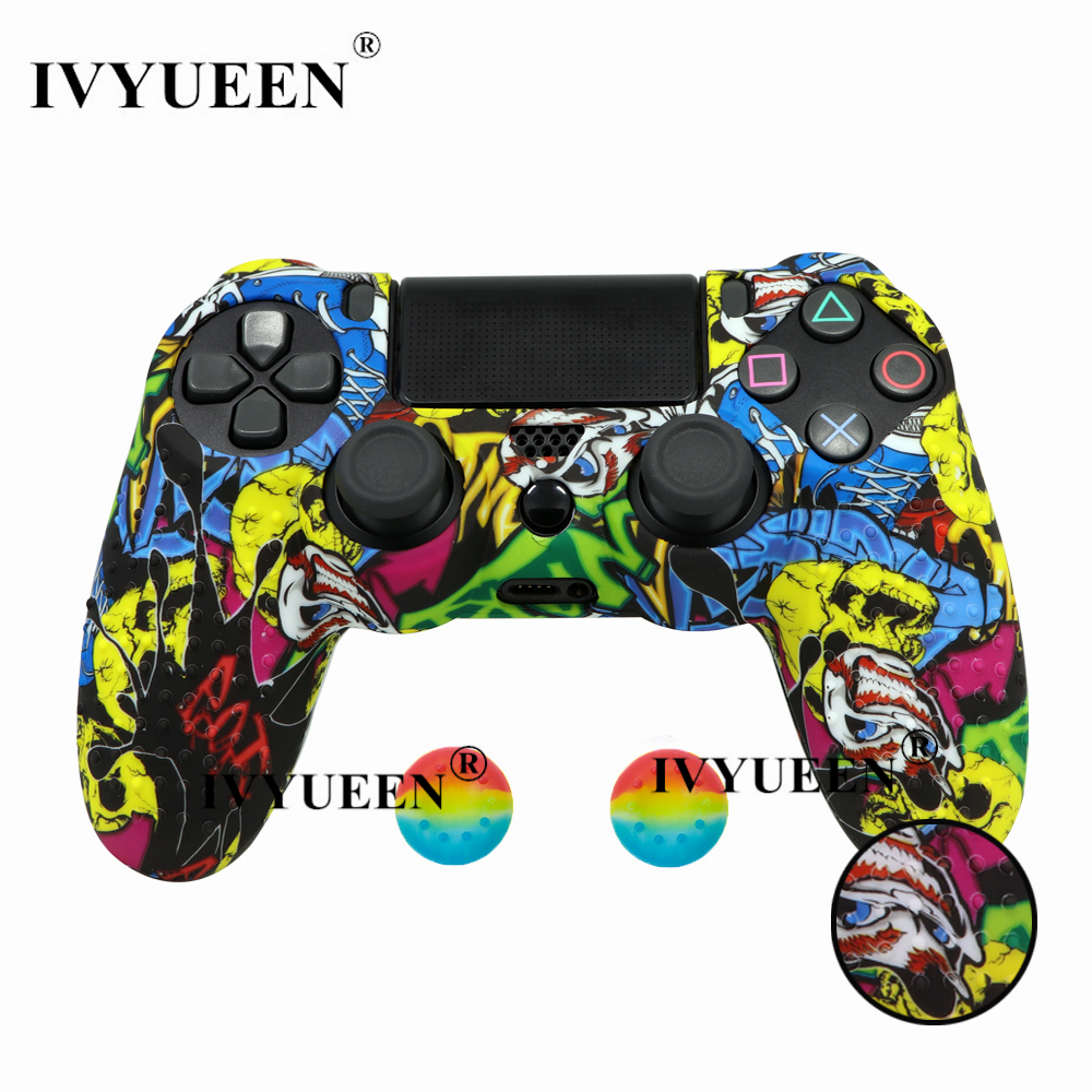 for PlayStation 4 ps4 Pro slim controller silicone case skin 02