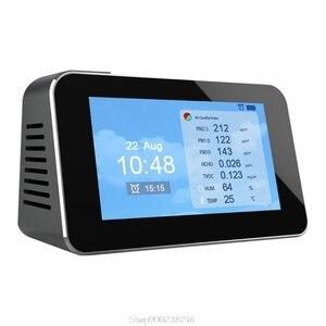 Multifunction LCD Digital Display Quick Sensing Air Quality Monitor Gas Pollution Meter Detector PM2.5+CO2+TVOC Au26 20 Dropship