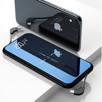 wireless power bank 10000mAh mirror Power Bank Mini Poverbank Qi Fast Wireless Powerbank For xiaomi redmi with usb power bank