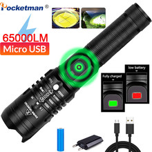 65000 lumens led flashlight super bright xhp502 most powerful usb flashlight 18650 best outdoor camping fishing hunting lights(China)