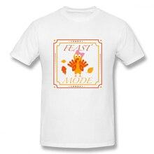 лучшая цена 100% cotton Thanksgiving Day Turkey Feast Mode Hannah print casual mens o-neck t shirts fashion Men's Basic Short Sleeve T-Shirt