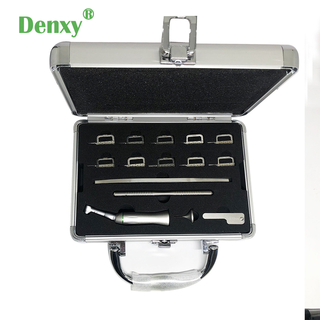 Denxy 1box Dental Orthodontic Interproximal enamel reduction Reciprocating IPR System Stripping Contra Angle Orthodontic tool