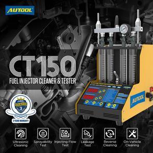 Image 4 - AUTOOL CT150 voiture injecteur de carburant testeur nettoyage Machine moto injecteur nettoyeur Test ultrasons essence Auto outil 110V 220V