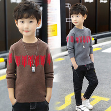 Baby Boys Sweaters 2019 Autumn Winter Plus Velvet Kids Sweaters Children Striped Pullover Boys Knitted Top Kids Clothing kids sweaters boys plaid sweaters children pullover autumn baby girls knitted top child heart turtleneck sweater winter clothes