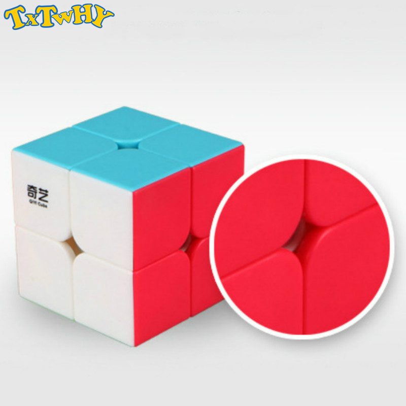 Cube 2X2 Magic Cube 2 By 2 Cube 50mm Speed Pocket Sticker Puzzle Cube Professional Educational Toys For Children Use For Match