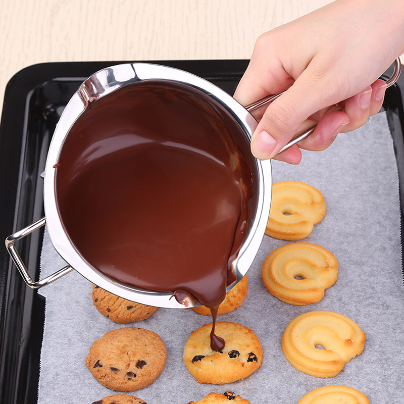Stainless Steel Chocolate Cheese Melting Pot Pan Bowl DIY Accessories Tool JS22