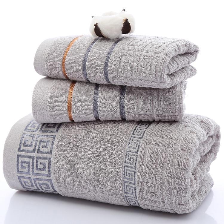 3pcs Luxury 100 Cotton Soft Bath Embroidered Towel Sets Beach Bath Towels Adults High Quality Face
