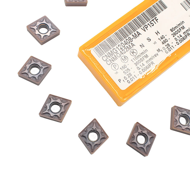 10PCS CNMG120408 MA VP15TF External Turning Tools Carbide inserts CNMG 120408 Cutting Tool CNC Lathe cutter