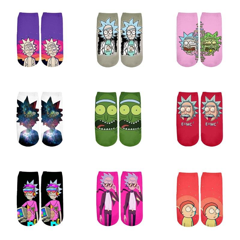 Новые забавные короткие носки с 3D принтом для мужчин и женщин, корейские носки в стиле Харадзюку, RS-007