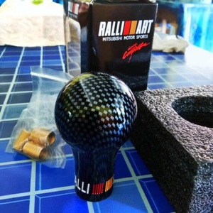 Ralliart Carbon Look Manual Transmission Gear Shift Knob For Mitsubishi