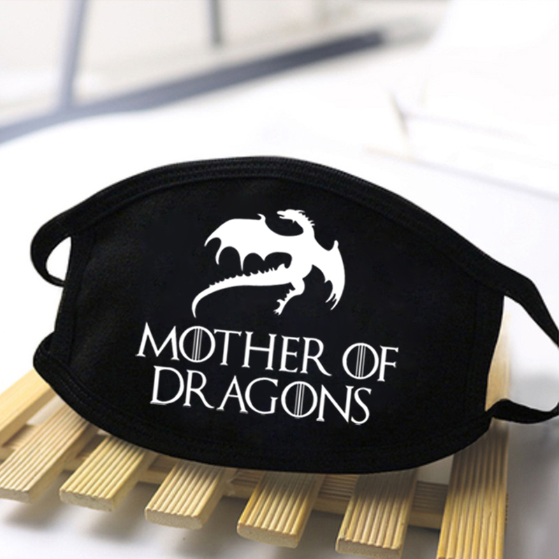 Unisex Game Of Thrones Anti Dust Masks Male Fashion Mouth Muffle Respirator Dust-proof Mouth Mask For Women Masque Lavable