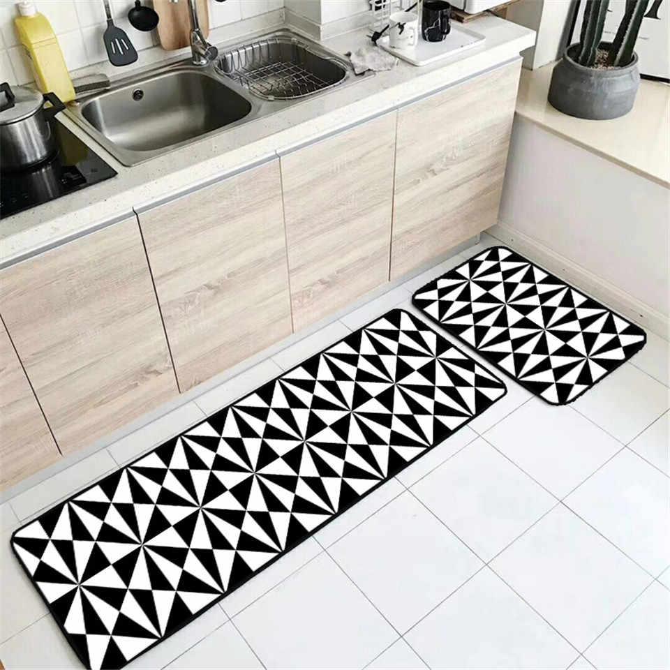 Nordic Black White Rug Pink Kitchen Accessories Carpet Water Absorbing Bath Mat Child Room Beside Kids Aliexpress