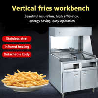 BS-10 Verticale Patatine Fritte Patatine Fritte di Isolamento In Acciaio Inox Commerciale Workstation Workstation Robot da Cucina