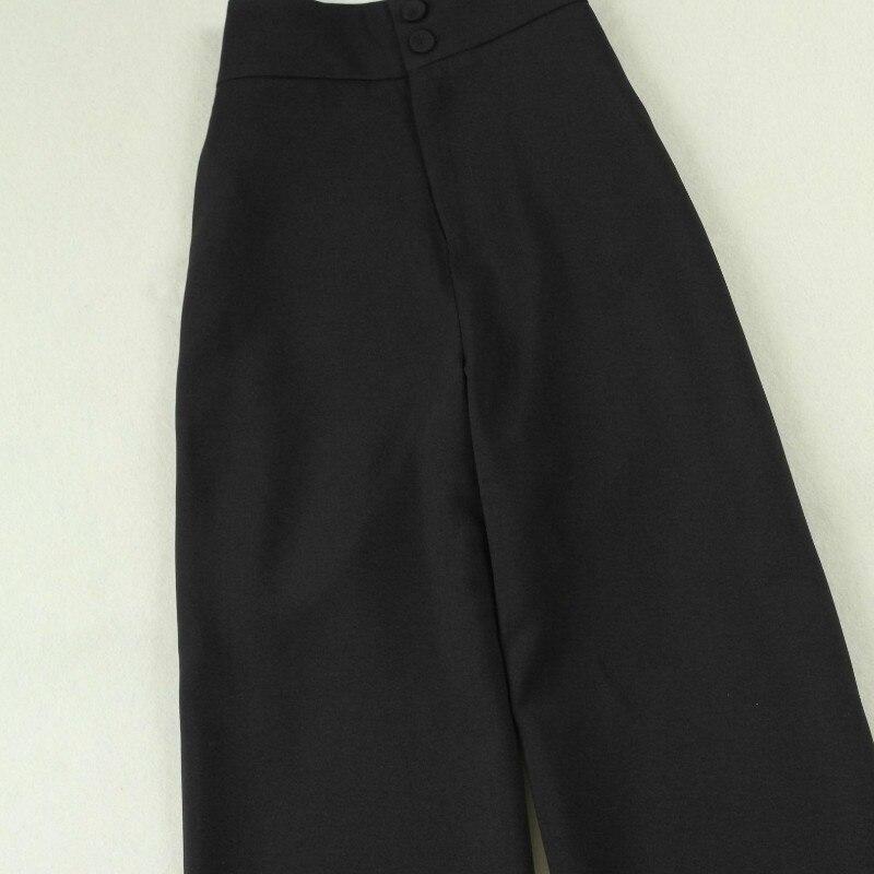 Women's business suit two-piece suit Temperament Slim long section of black suit coat female Loose wide leg pants suit 2019 new