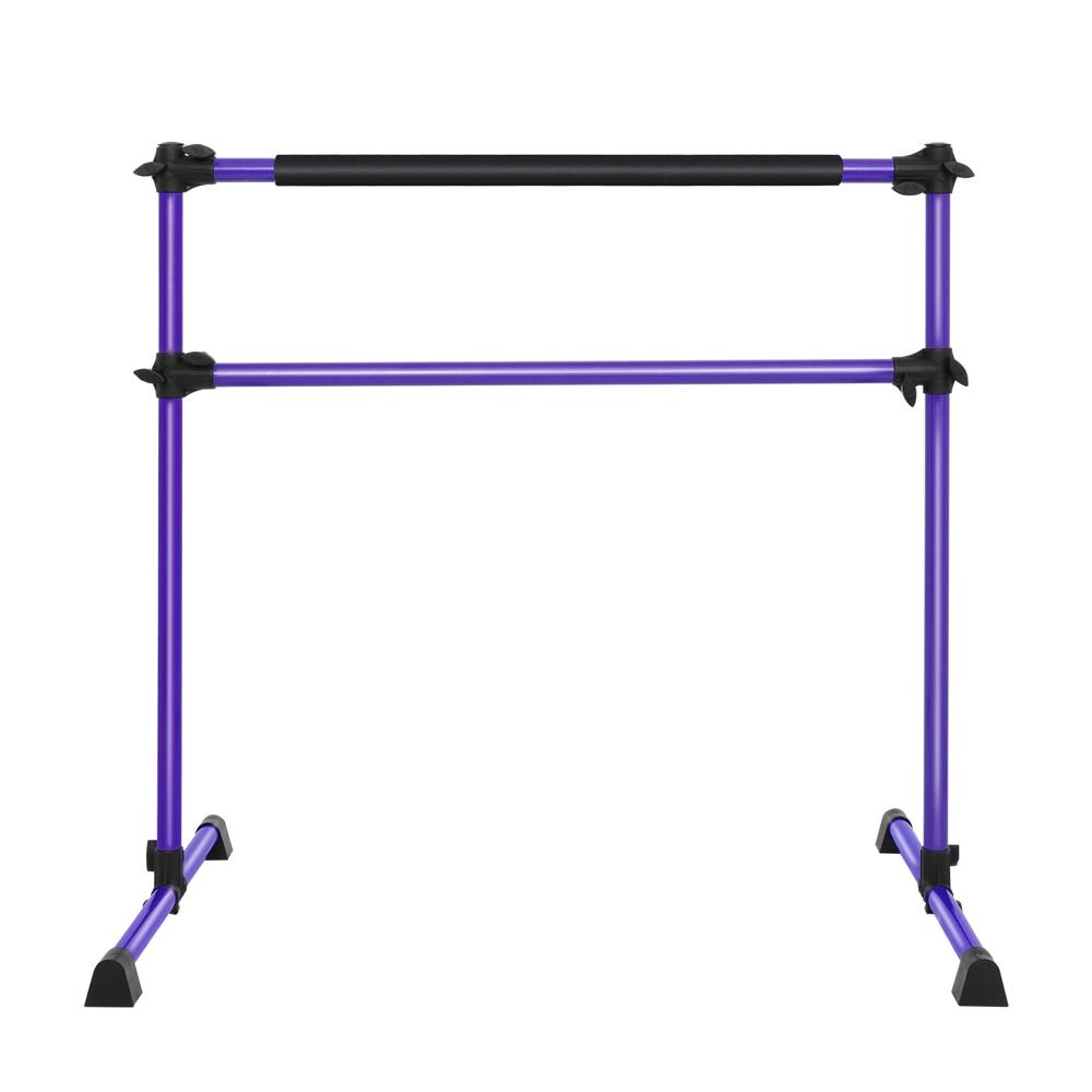 Double-Decked Liftable Home Dance Studio Ballet Pole Yoga Stretching Fitness Dance Pole Purple