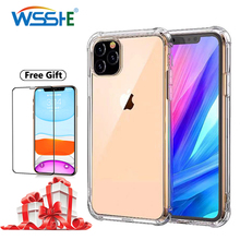 Soft Phone Case For iPhone 11 2019 Transparent Back Cover On Pro Max Screen Protector
