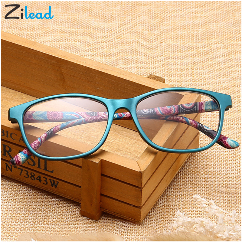 Zilead Retro Ultra Light Full Frame Leopard Reading Glasses Women&Men Eyewear Glasses Presbyopia+1.0+1.5+2.0+2.5+3.0+3.5+4.0