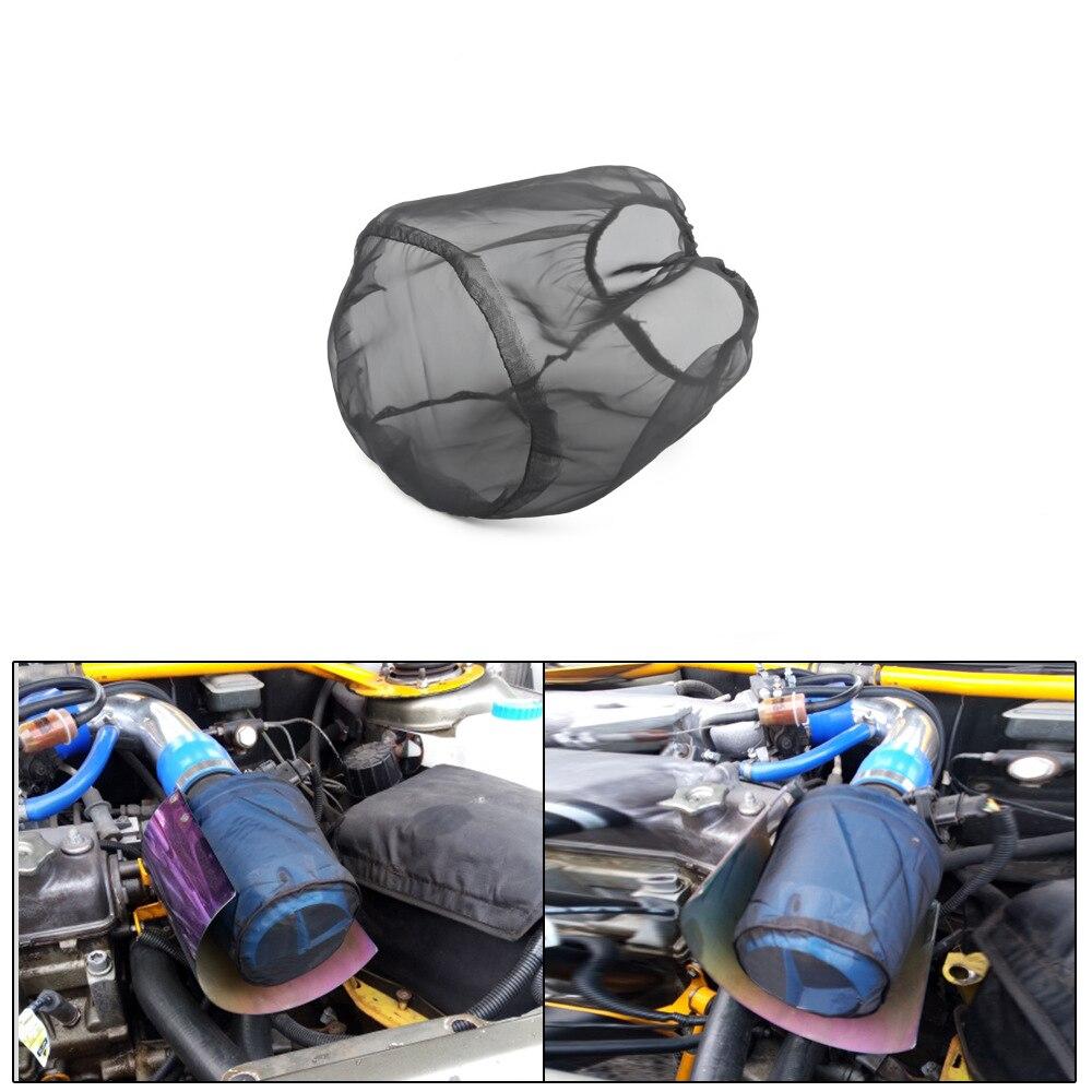 防水車のエンジンコールドエアインテークプレフィルター円錐カバー黒ラップ部品