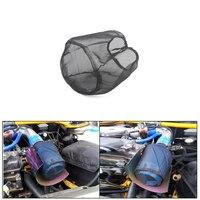 Motor de carro à prova dwaterproof água de entrada de ar frio pré filtro cônico capa preto envoltório peças