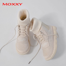 2019 New Fashion Ankle Boots Women Shoes Sock Boots Platform Lace Up Martin Casual Black Sneakers Fur Plush Winter Boots Women недорого