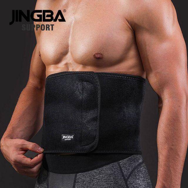 JINGBA SUPPORT Sport wais belt support fitness waist trimmer sweat belt Neoprene Lumbar Band Protective Dropshipping