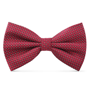 2019 New Fashion Men's Bow Ties for Wedding Double Fabric Plaid Red White Dot Bowtie Club Banquet Butterfly Tie with Gift Box