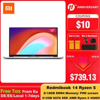 Xiaomi Redmibook 14 II Ryzen Edition Laptop AMD Ryzen 4500U 14 Inch Screen Windows 10 16GB/8GB DDR4 512GB SSD Notebook Computer 1