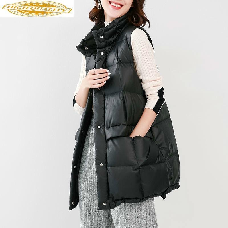 Women's Down Jacket Vest Duck Down Coat Winter Autumn Korean Sleeveless Puffer Jacket Vests Of Women WMTY1751 KJ3683