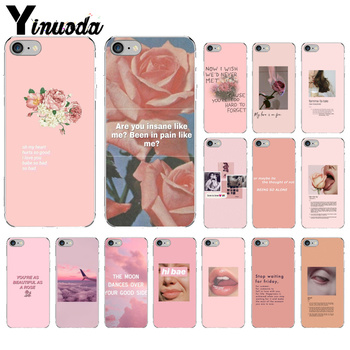 Yinuoda Vintage Pink Aesthetics songs lyrics Phone Case Cover for Apple iPhone 8 7 6 6S Plus X XS MAX 5 5S SE XR Cover image