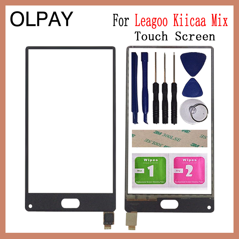 OLPAY 100% New Mobile Phone TouchScreen For Leagoo Kiicaa Mix 5.5'' Inch Touch Screen Digitizer Sensor Touch Panel Glass Repair