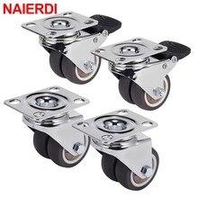 4PCS NAIERDI Swivel Casters Wheels 1.5