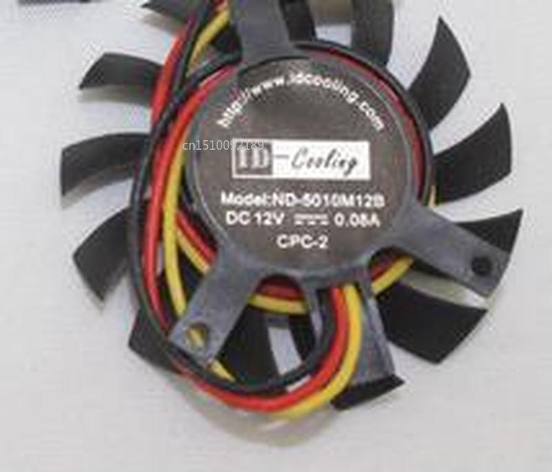 For ID-Cooling ND-5010M12B T125010DL 12V 0.08A 45mm 35x35x27mm For Graphics Card Cooling Fan Free Shipping