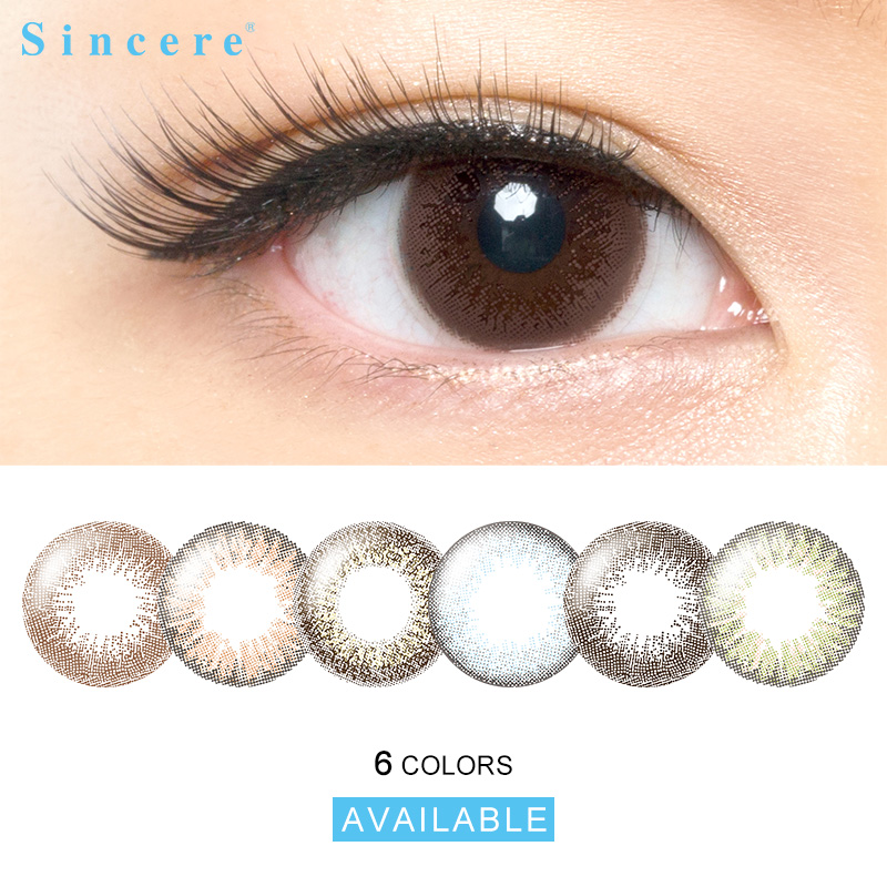 2lenses/pair Eye Lens Colored Contact Lenses Natural Looking Eye Monthly Throw Contact Lenses For Eyes Used For 30days