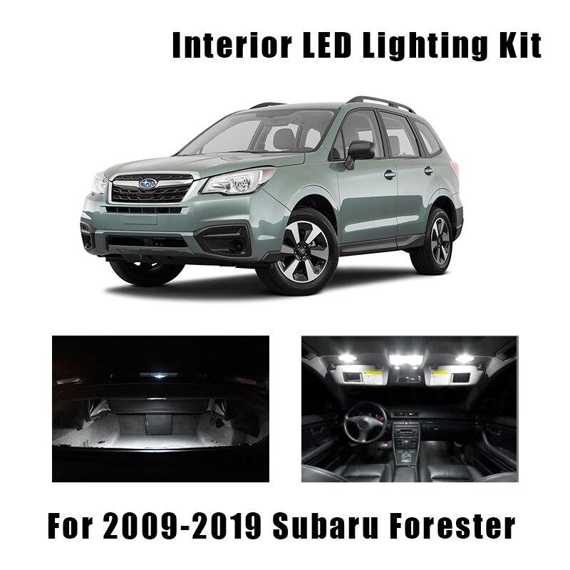 10 шт. белые светодиодный ные лампы для салона карты купол багажник светильник комплект подходит для 2009-2017 2018 Subaru Forester дверь номерной знак ла...