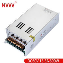 NVVV S-800-60v 13.3a switching power supply ac/dc power transformer has sufficient power