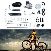 80cc 2 Stroke Engine Motor Kit for Motorized Bicycle Bike Gas Powered Black DIY Motorized Bicycle Replacement